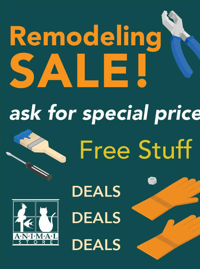 Animal Store Remodeling Sale 2