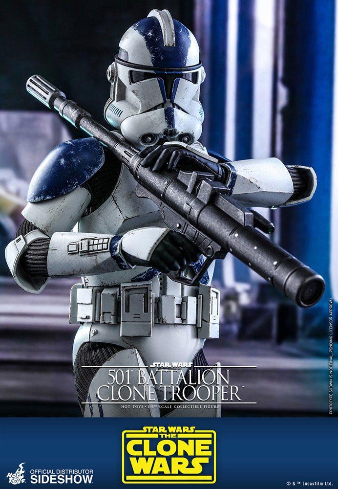 Star Wars 501st Battalion Clone Trooper Action Figure 1 6 Scale Uk