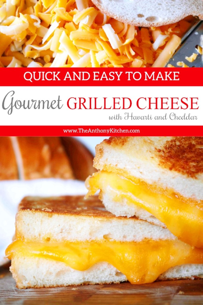 Gourmet Grilled Cheese Sandwich with Cheddar and Havarti