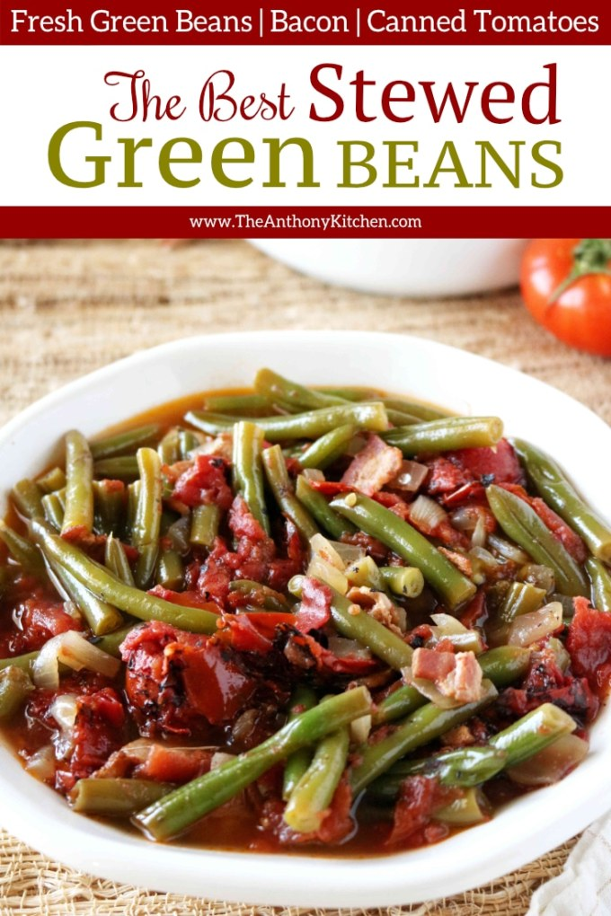 The Best Stewed Green Beans