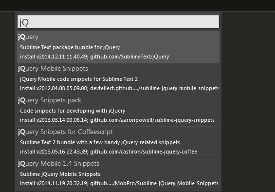 jquery-package-installer