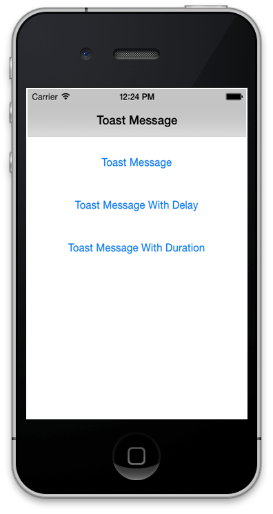toast message