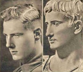 German Nordic (left) Emperor Augustus (right)