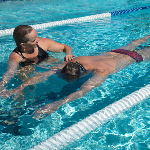 Swim lessons for adults and kids