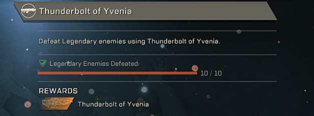 anthem thunderbolt of Yvenia blueprint