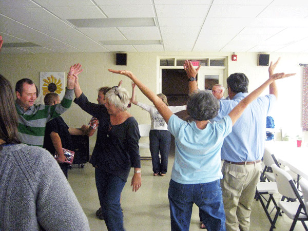 Dancing at the Arc fall potluck