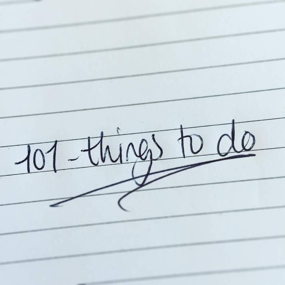 101 dingen in 1001 dagen
