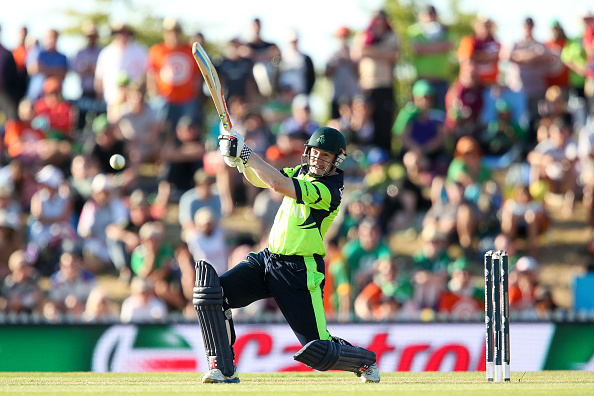 NELSON, NEW ZEALAND - FEBRUARY 16:  Niall O'Brien of Ireland bats during the 2015 ICC Cricket World Cup match between the West Indies and Ireland at Saxton Field on February 16, 2015 in Nelson, New Zealand.  (Photo by Hagen Hopkins/Getty Images)