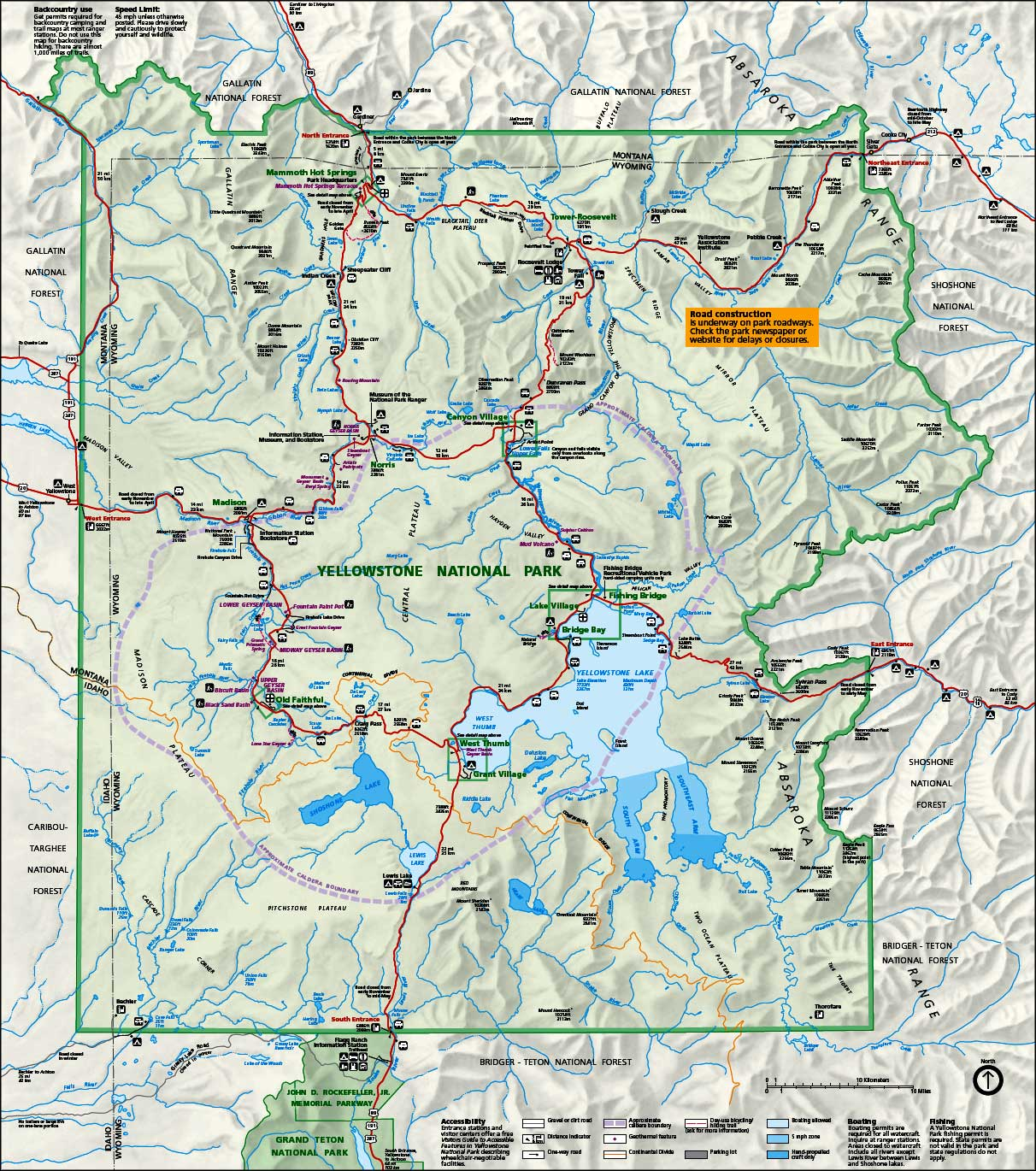 A map legend is a side table or box on a map that shows the meaning of the symbols, shapes, and colors used on the map. Yellowstone Map Freetemplate