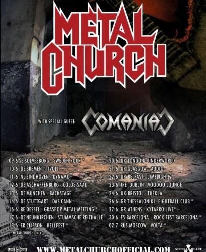 Metal Church Tour 2017