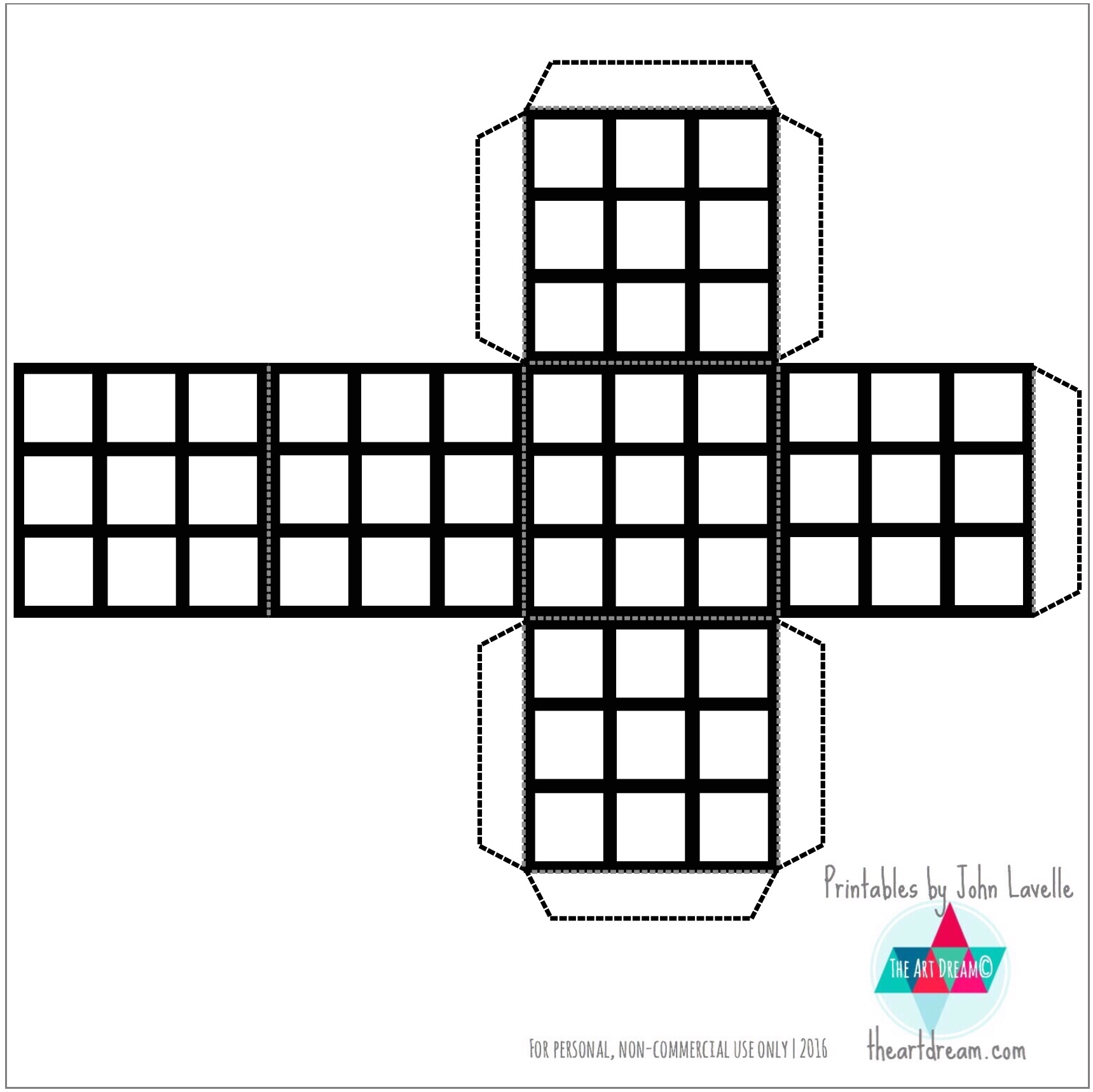 Color Your Own Rubik S Cube Printable