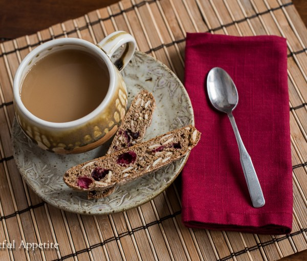 Cranberry Almond Whole Wheat Biscotti (and news!)