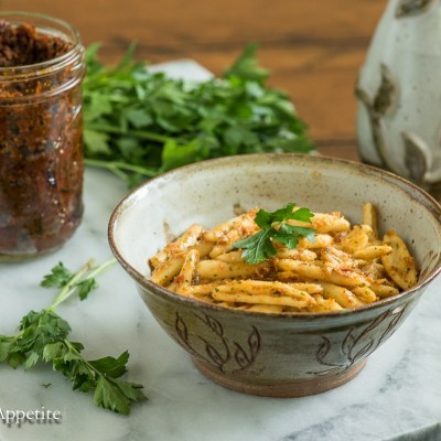 Sun Dried Tomato Pesto {vegan}