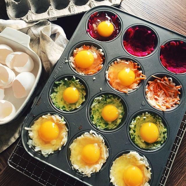 Colorful Veggie Egg Baskets