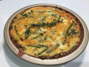 Ham, Spinach & Asparagus Quiche w/ Quinoa Crust