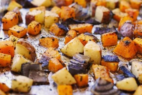 Roasted Honey & Herb Potatoes