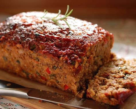Meatloaf with Cranberry Ketchup Glaze