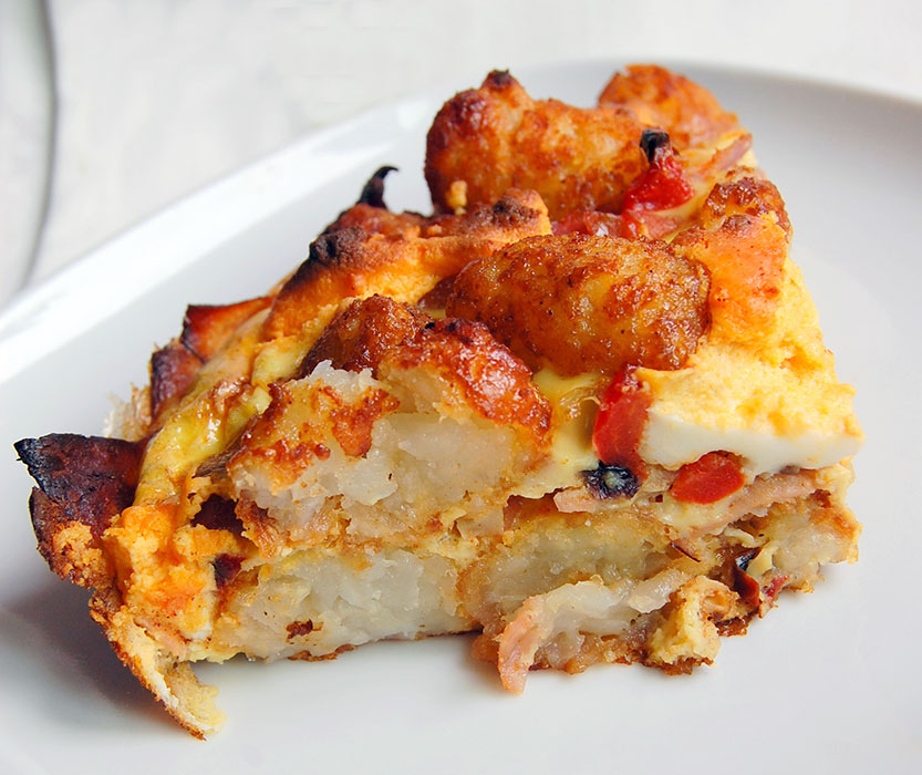 Holiday Brunch: Italian Frittata with Red Pepper, Potatoes and Bacon