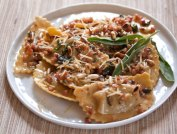 Butternut Squash Agnolotti with Brown Butter Sage, Pancetta and Toasted Pinenuts
