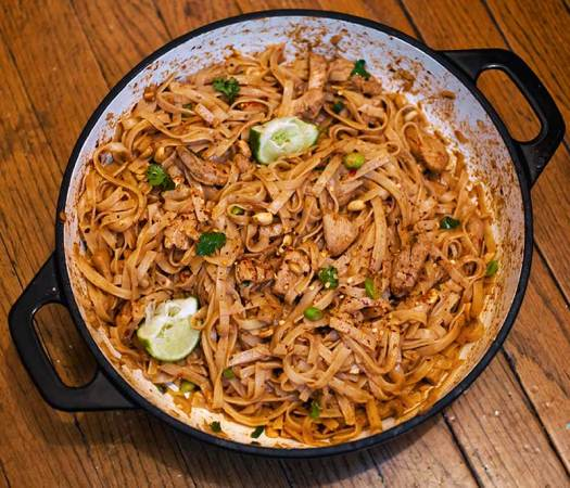 Spicy Thai Chicken Peanut Noodles 3