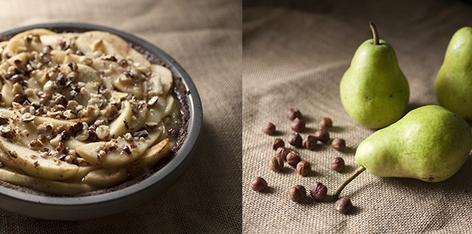 Pear and Hazelnut Salted Caramel Pie