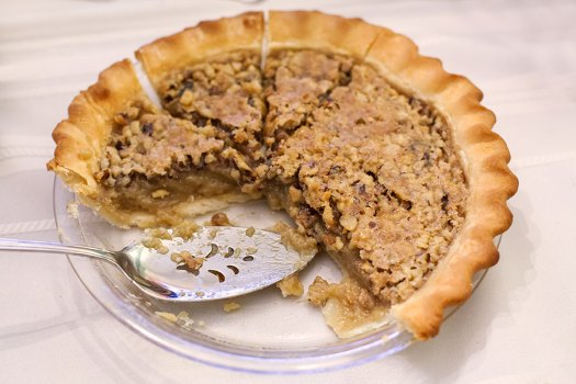 Maple Brown Sugar Walnut Pie