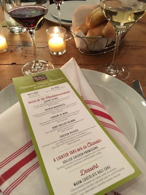 Olive Garden Tastes of the Mediterranean Menu