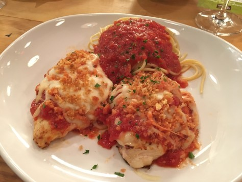 Grilled Chicken Parmigiana