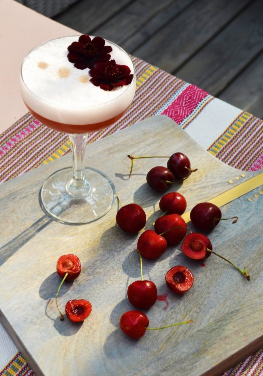 Chocolate Cherry Pisco Sour