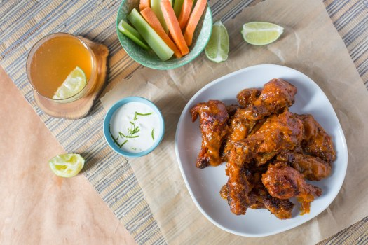 Sriracha Mango Lime Chicken Wings