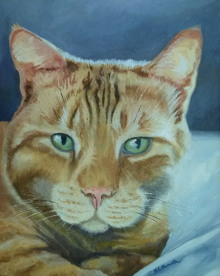 My Cat Ilanga Painting