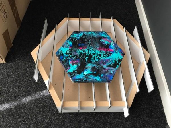 Acryl gieten gietbak hexagon