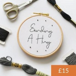 Sending A Hug Embroidery Kit