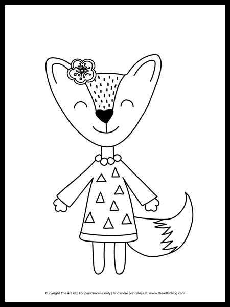 Coloring Pages For Girls The Art Kit