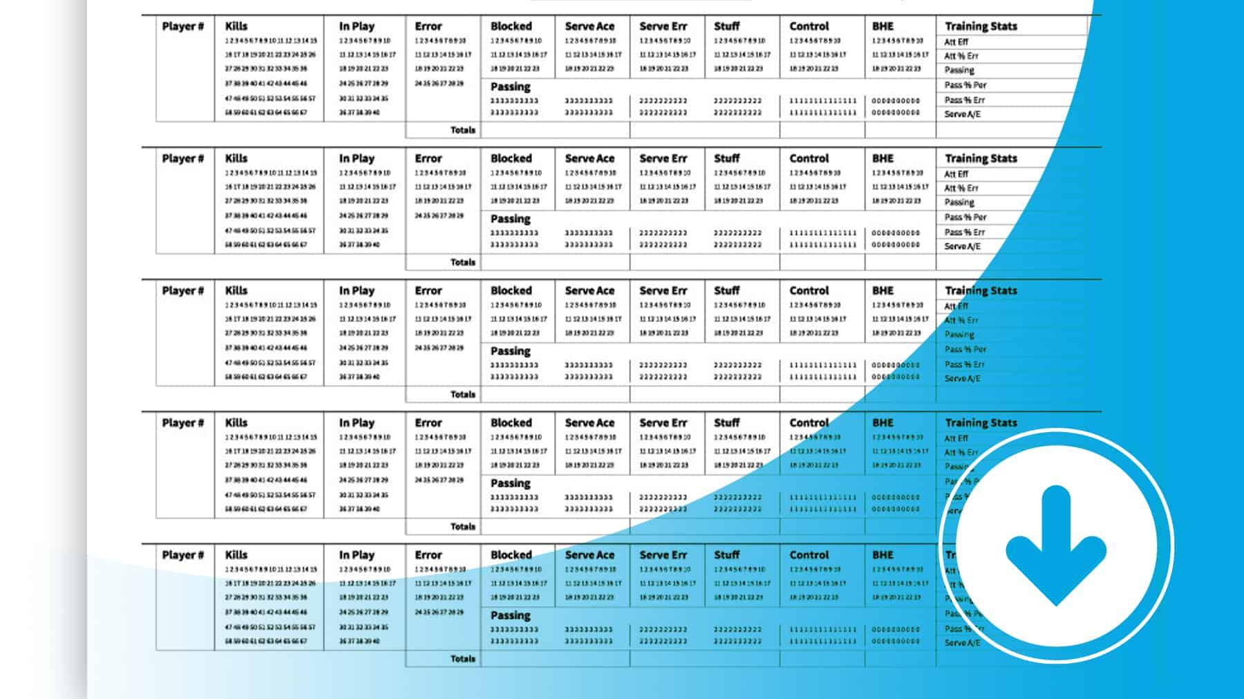 Training Stats Recorder Sheets
