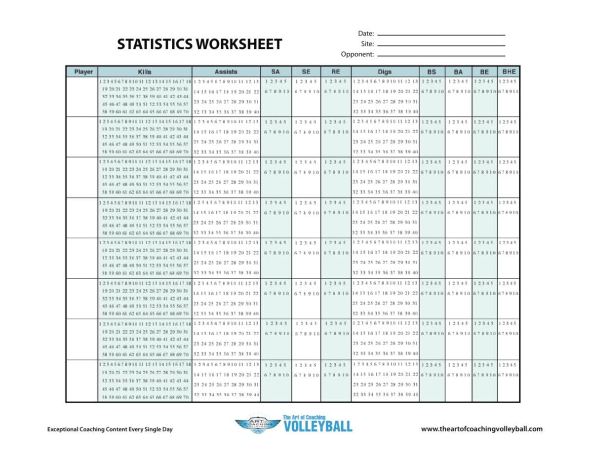 Statistics Worksheet
