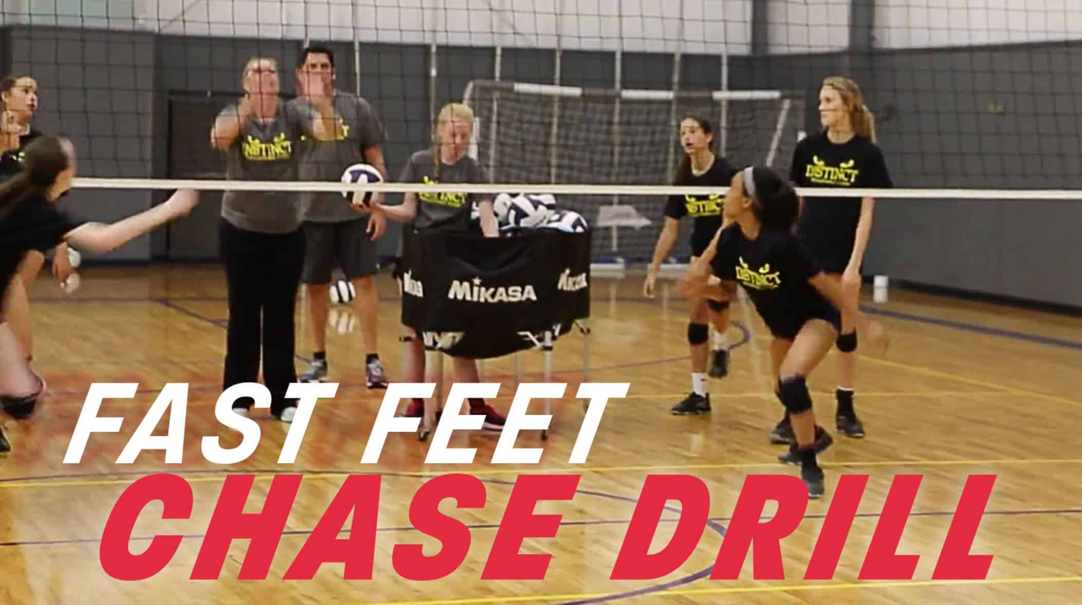 Encourage Fast Feet With Chase Drill