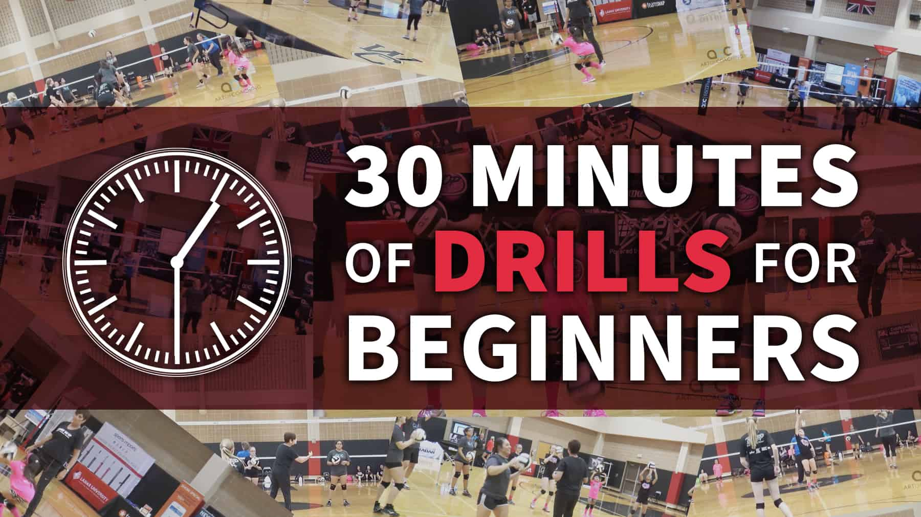 30 Minutes Of Drills For Beginning Volleyball Players