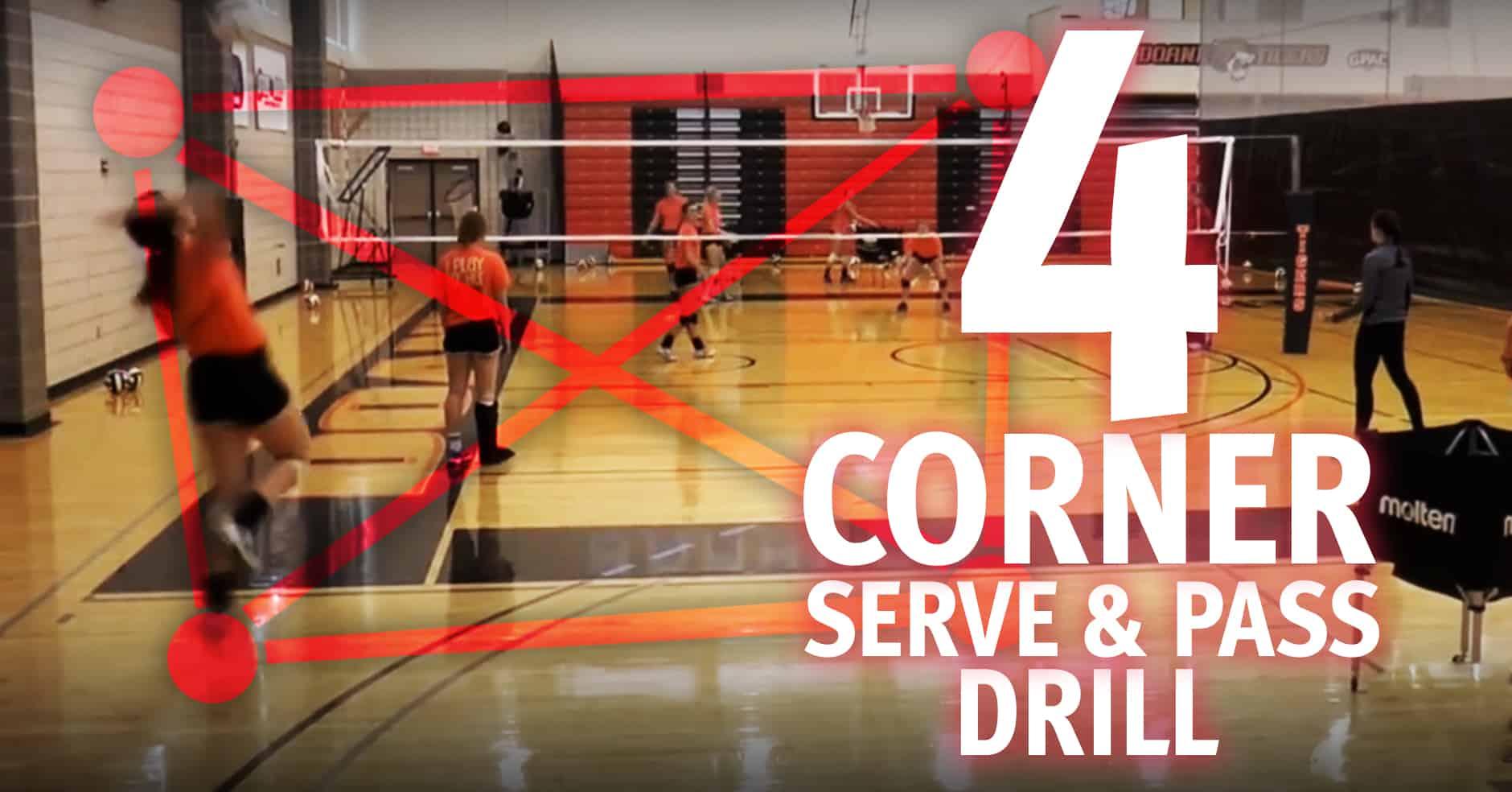 4 Corner Serve And Pass Drill