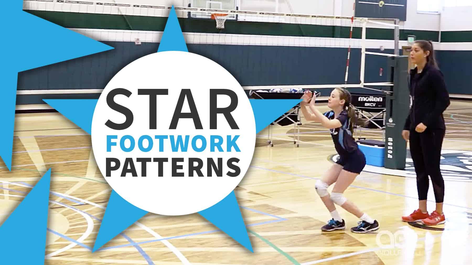 Setting Drill Star Footwork Patterns