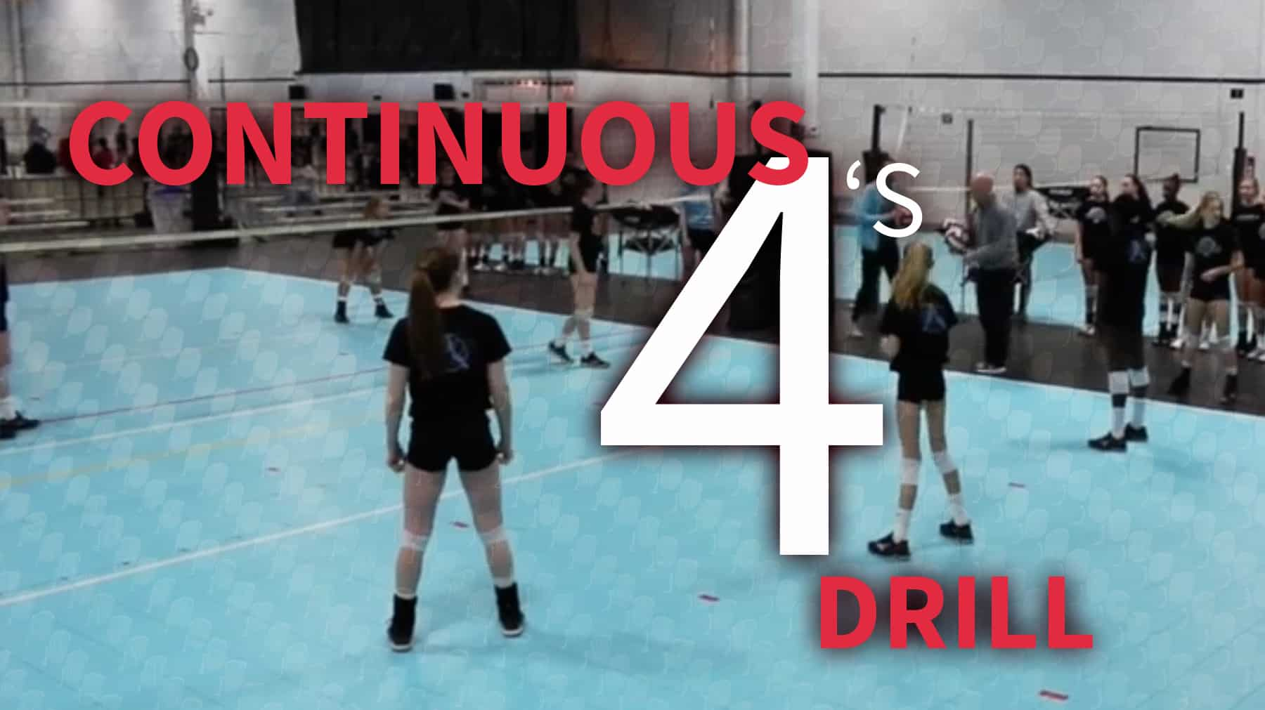Continuous 4 S Volleyball Drill
