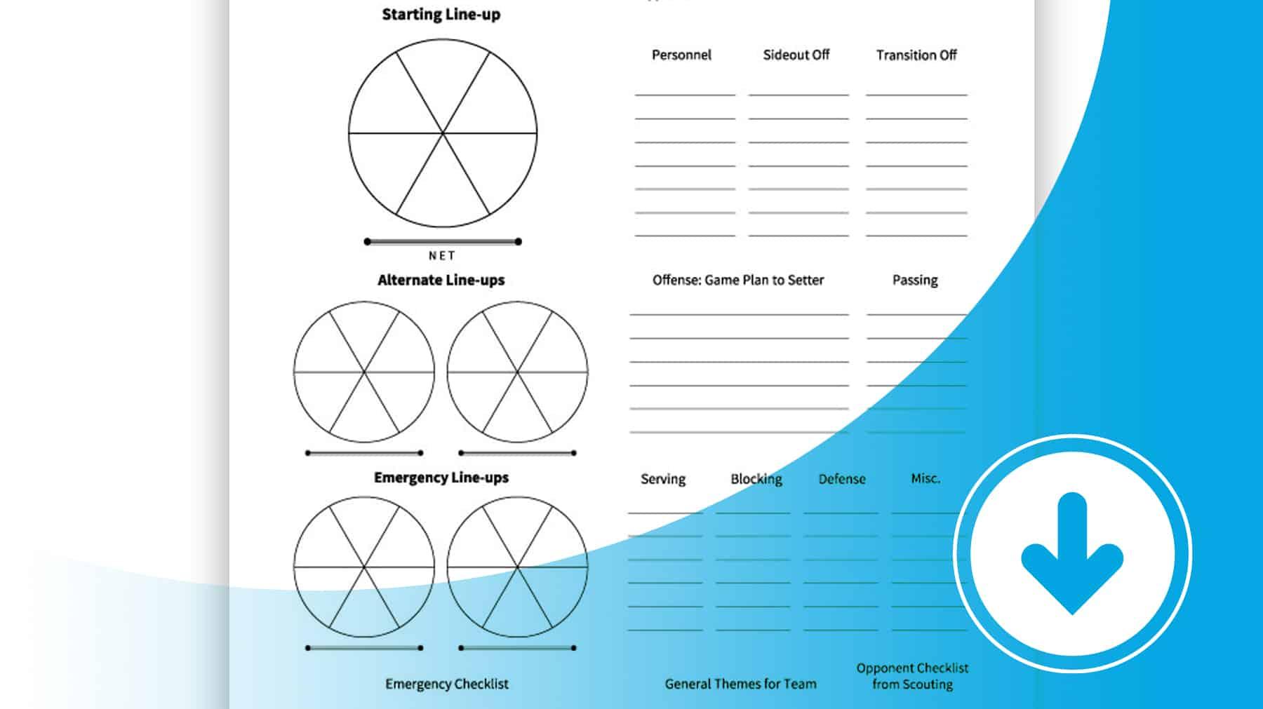 Game Plan Worksheet