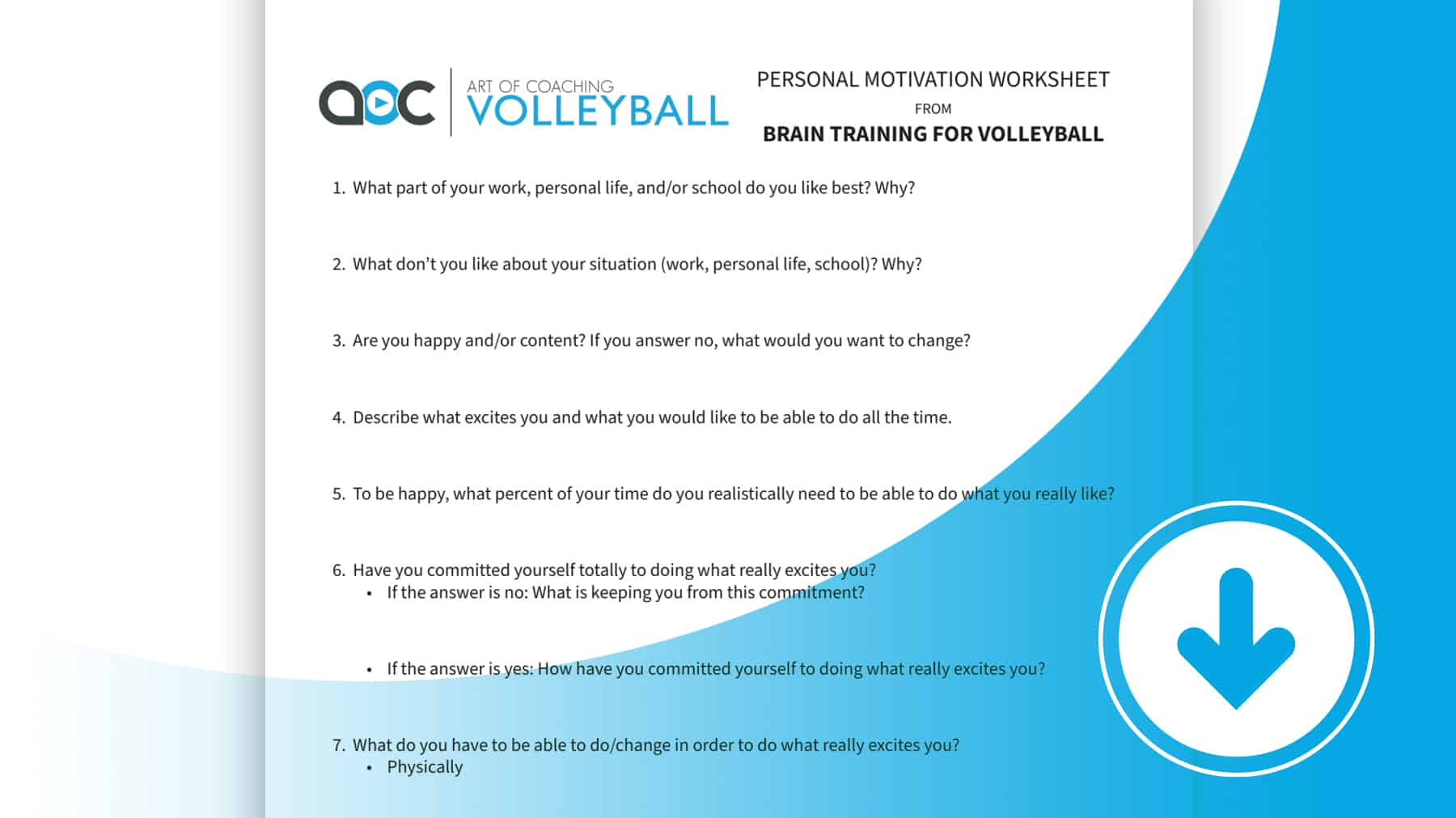 Personal Motivation Worksheet