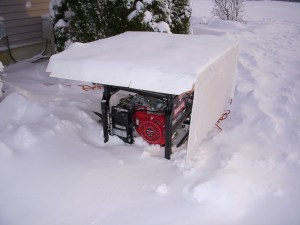 Generator With Sled/Shelter
