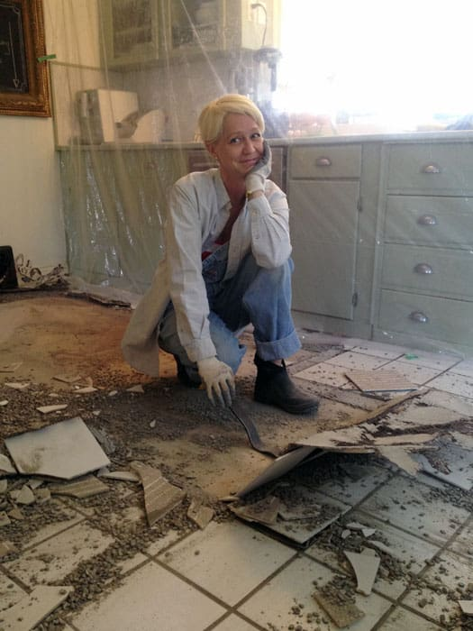 how to rip out a ceramic tile floor