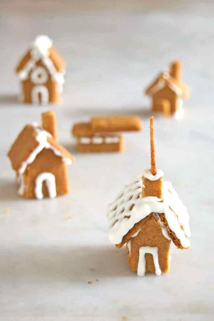 Tiny Gingerbread House Dessert On Ice Cream The Art Of