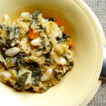 ribollita with spoon