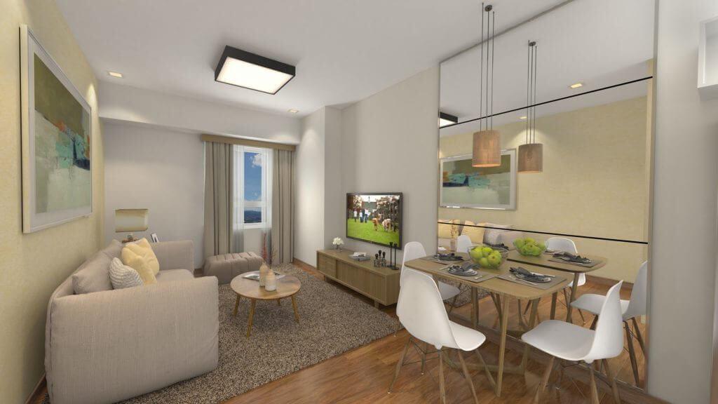 The Arton   Studio Living and Dining Area