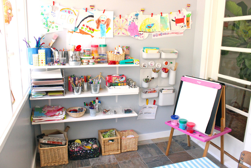 Craft Storage Shelves Small Spaces