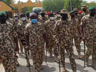 Defence Minister, Chief Of Defence Staff, Other Service Chiefs Storm Maiduguri Over Terrorist Activities